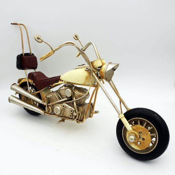 DynaSun Art Modellino Moto d'Epoca Vintage Metallo, Stile Retro Auto Antico Scala 1:6 33 cm