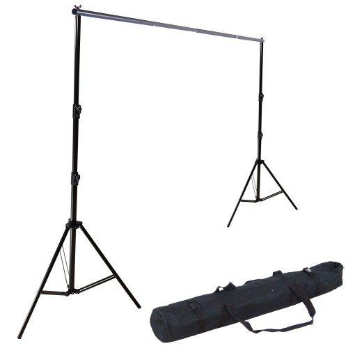DynaSun K906 290x380cm XXL Kit Portatile Supporto Fondale Portafondali Professionale per Background con 2 Stativi Laterali da 290cm, Barra 3,8mt, Borsa