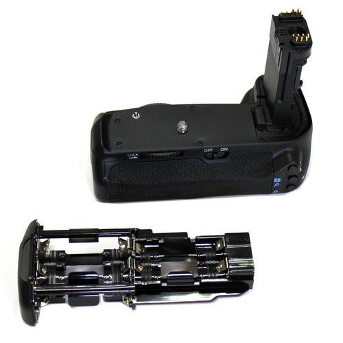 DynaSun E14 Impugnatura Battery Grip Professionale per Canon EOS 70D, Compatibile BG-E14 con Alloggiamento Speciale per 6 Batterie Stilo AA, Nero
