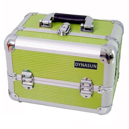 DynaSun Bss35 Beauty Case Make Up Nail Art Porta Gioie, Verde, XXL