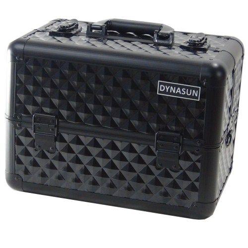 Beauty Case Make Up DynaSun BS36 37x23x28cm XXL Nero Professionale Valigia Cofanetto Porta Gioie Smalti Oggetti