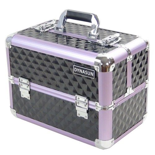 Beauty Case Make Up DynaSun BS36 37x23x28cm XXL Nero Pink Professionale Valigia Cofanetto Porta Gioie Smalti Oggetti