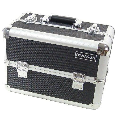Beauty Case Make Up DynaSun BS37 37x23x25cm XXL Nero Argento Professionale Valigia Cofanetto Porta Gioie Smalti Oggetti