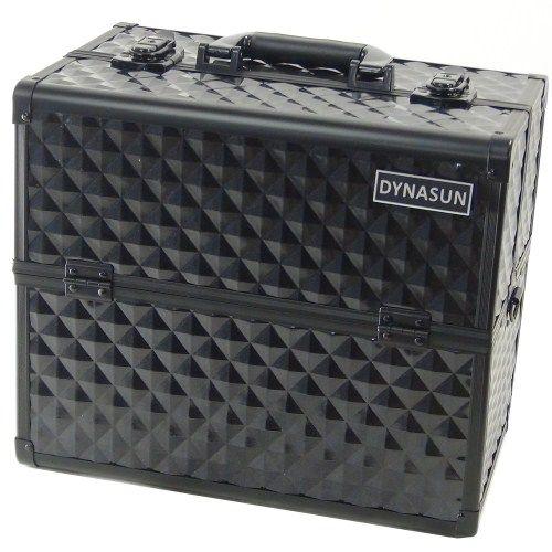 Beauty Case Make Up DynaSun BS38 36x24x30.5cm XXL Nero Professionale Valigia Cofanetto Porta Gioie Smalti Oggetti