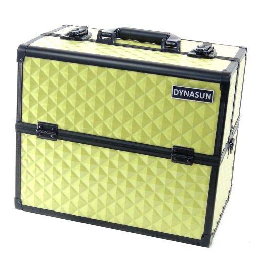 Beauty Case Make Up DynaSun BS38 36x24x30.5cm XXL Giallo Professionale Valigia Cofanetto Porta Gioie Smalti Oggetti