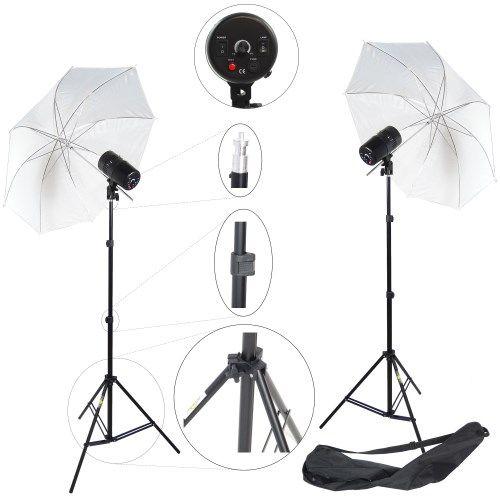 DynaSun 2X CY100 KIT 200 W Kit Flash Compatto da Studio Professionale