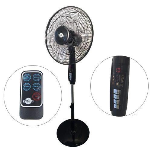 DynaSun FS40 DS102RC LCD LED Ventilatore a Piantana Elegance con Potenza 60W Pale D40 con Display LED Telecomando
