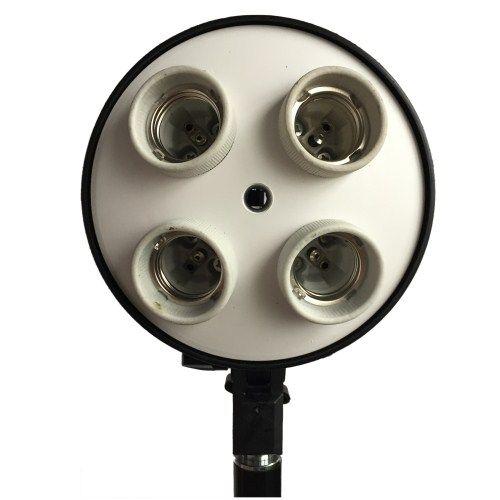 DynaSun ES470 Kit Professionale 50x70 cm 4 in 1 per Illuminatore e Flash con Softbox Bank Integrato Pieghevole, Attacco Quadruplo E27
