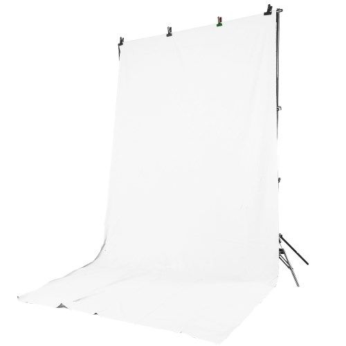 Kit Supporto Portafondali DynaSun FS901 +Borsa +Fondale W001 Background Bianco x Studio Foto Video