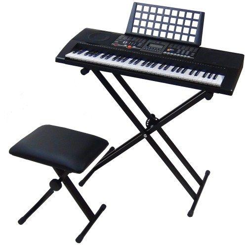 Tastiera Elettronica Keyboard MK906 61 Tasti Semi-Pesati Controller USB + Supporto X2 + Sgabello