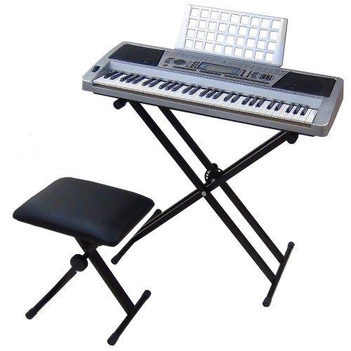 Tastiera Elettronica Keyboard MK939 61 Tasti Semi-Pesati con Supporto MK-X2 + Sgabello