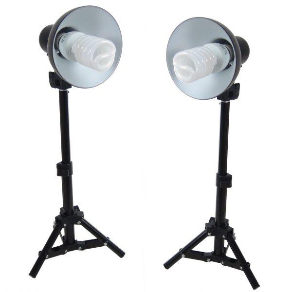DynaSun 2x PS01 400W Kit Illuminatore Lampada Luce DayLight con Cavalletto Stativo per Studio Foto Video