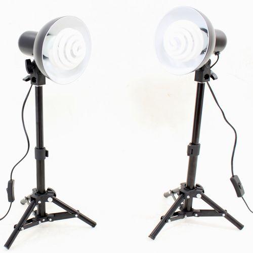 DynaSun 2x PS01 350W Kit Illuminatore Lampada Luce DayLight con Cavalletto Stativo per Studio Foto Video