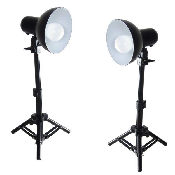 DynaSun 2x PS01 LED 300W Kit Illuminatore Lampada Luce DayLight con Cavalletto Stativo Studio Foto Video