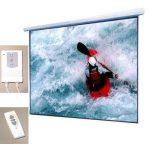 Schermo Proiettore Motorizzato DynaSun HDTV PS603 250cm con Pannello e Telecomando