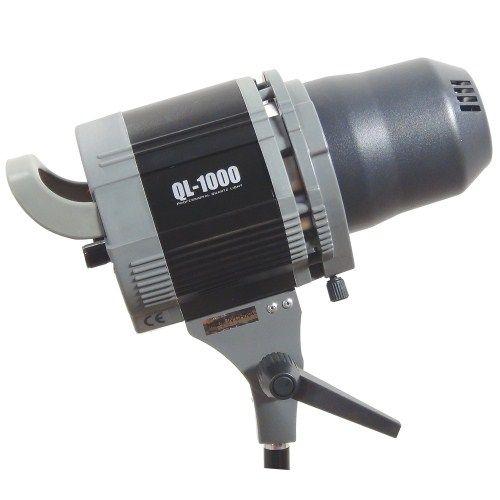 DynaSun Kit QL1000 Black Edition1000W Illuminatore Studio Professionale con Potenza Regolabile, Lampada Alogena al Quarzo