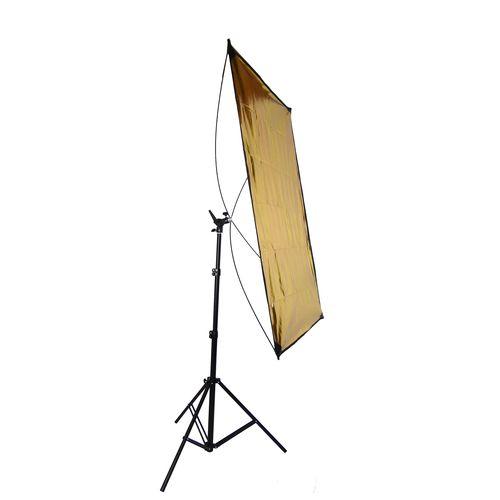 Set Completo Pannello Riflettente DynaSun RE2018 Superfici Argento/Oro 70x110cm con Stativo