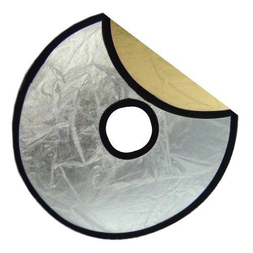 DynaSun 12280 - Pannello Riflettente Flash Pieghevole, Argento/Oro, Universale
