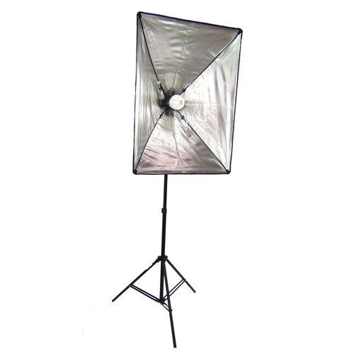"""DynaSun Kit SB1007 Flash 40 x 60 cm Ultra leggero 40,64 x 24 cm x 60,96 (16"""")-Softbox portatile e ripiegabile per Flash con attacco E27, lampadina"""