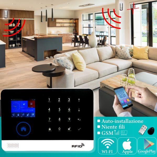 DynaSun Home W102 Wireless Anti-theft Kit 433 Mhz Wireless Home Alarm